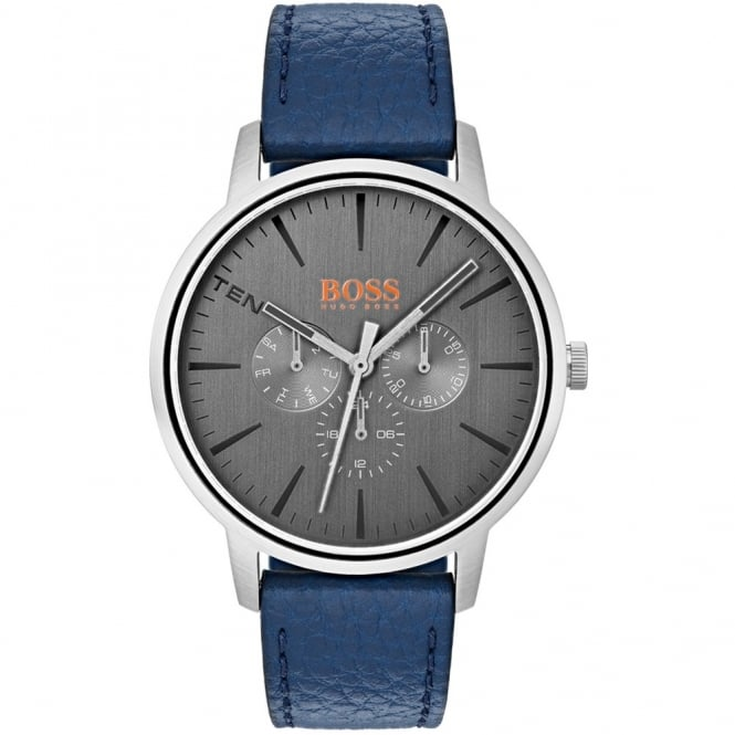 Men's Blue Leather Copenhagen Watch 1550066