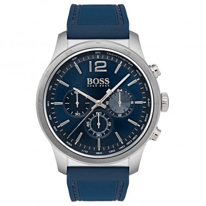 Men's Blue Rubber Professional Chronograph Watch 1513526