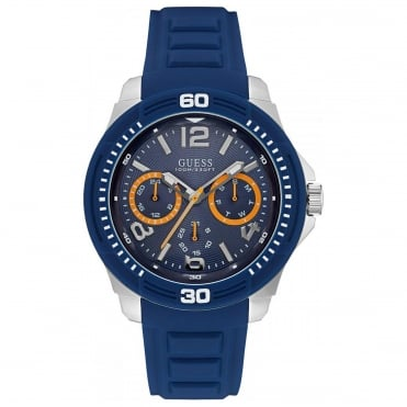 Men's Blue Rubber Tread Watch W0967G2