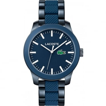 Men's Blue Steel & Rubber 12.12 Watch 2010922