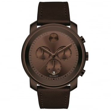 Men's Bold Brown Ion Plate Chronograph Watch 3600420