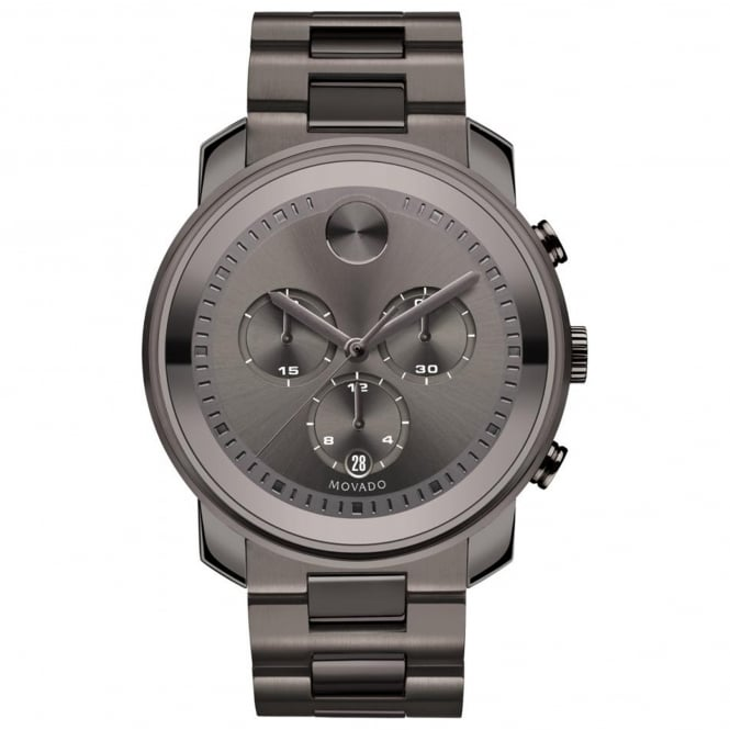 Men's Bold Gun Metal Chronograph Watch 3600277