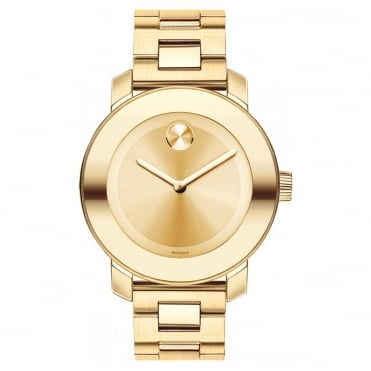 Men's Bold Iconic Gold Plate Watch 3600085