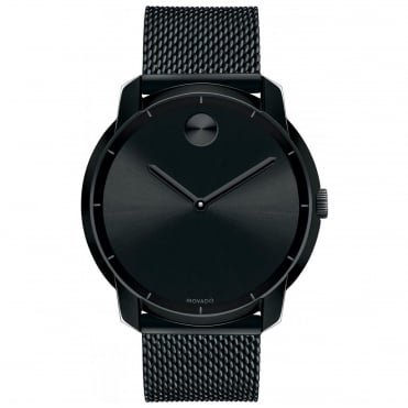 Men's Bold Thin Black Ion Plate Watch 3600261