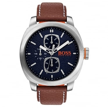 Men's Brown Leather Capetown Watch 1550027