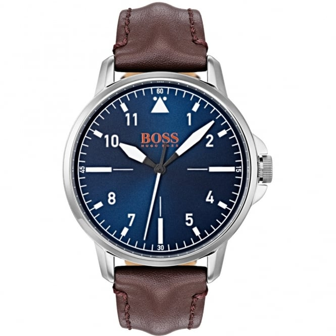Men's Brown Leather Chicago Watch 1550060