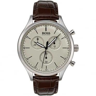 Men's Brown Leather Companion Chronograph Watch 1513544