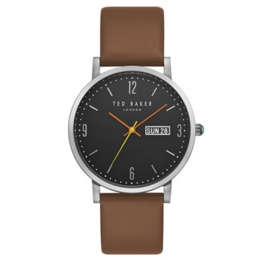 Men's Brown Leather Grant Watch TE15196010