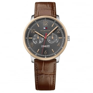 Men's Brown Leather Will Watch 1791357