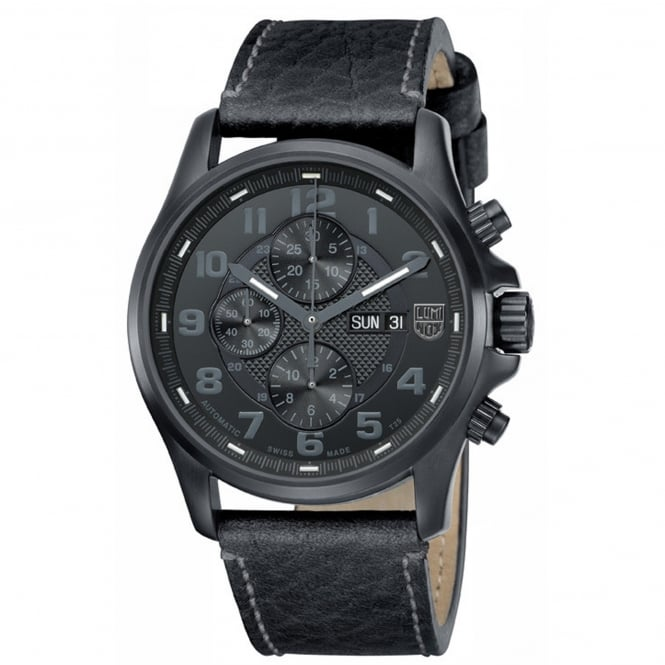 Luminox Men's Field Blackout Valjoux Automatic Chronograph 1861.BO