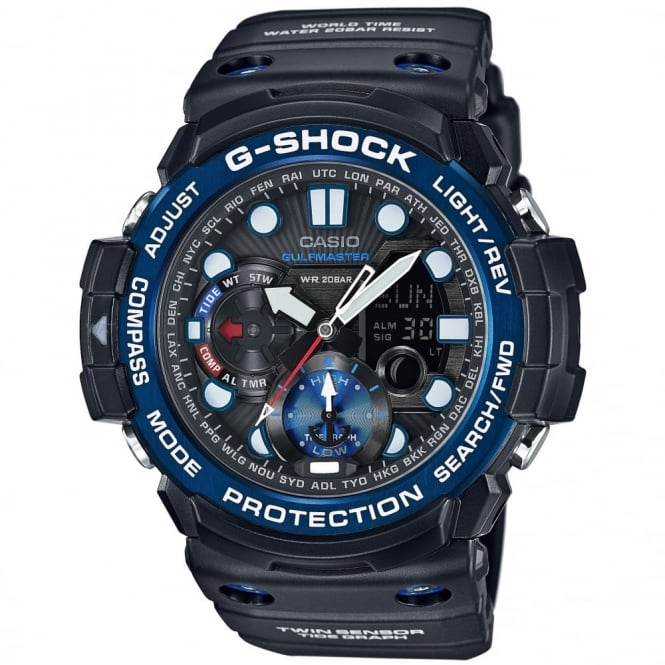G-Shock Men's G-Shock Gulfmaster Alarm Chronograph Watch GN-1000B-1AER