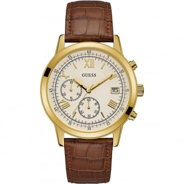 Men's Gold Plate Brown Leather Summit Watch W1000G3