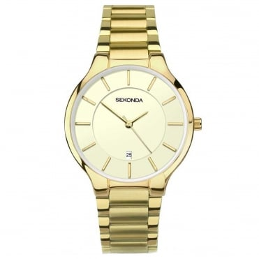 Men's Gold Plate Equinox Watch 1384
