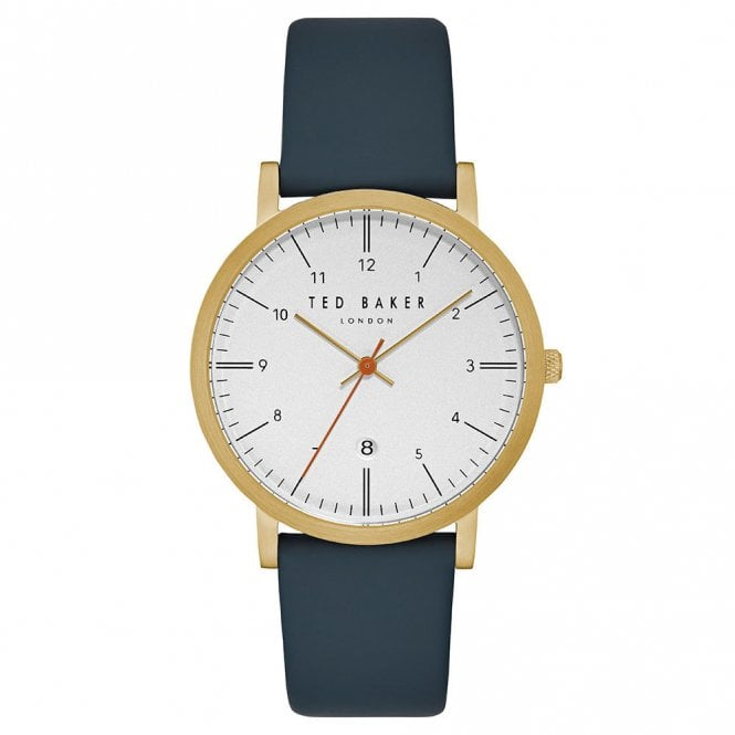 Men's Gold Plated & Leather Strap Samuel Watch TE15088003