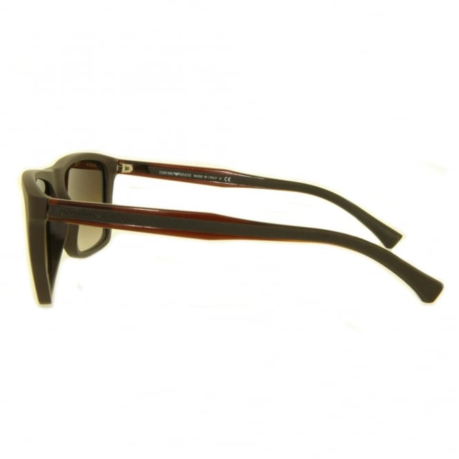 5821dbdd53 Mens Matte Brown Sunglasses EA4001 506413 56 - Sunglasses from ...