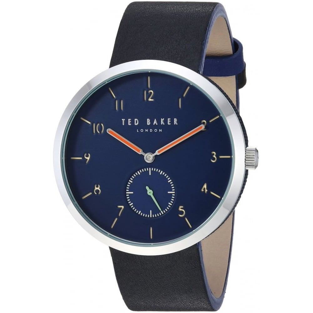 085ccc9de Men s Navy Blue Leather Strap Josh Watch TE50011007 - Watches from ...