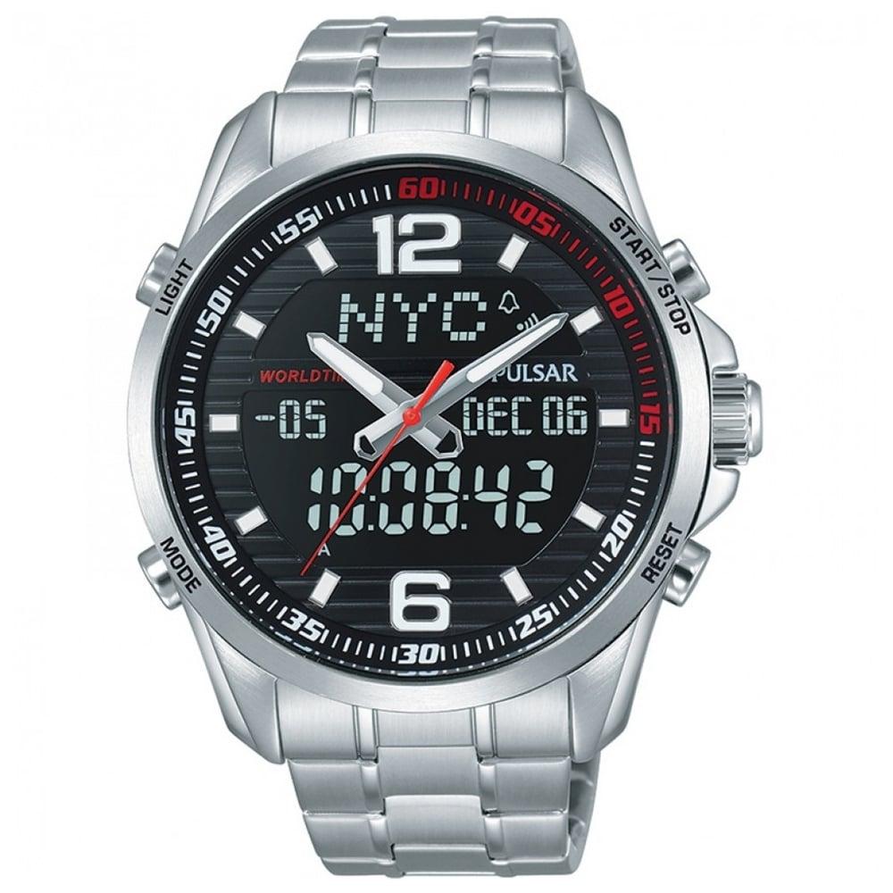 284fd4b1d Pulsar Men's Pulsar Stainless Steel Analogue Digital Watch PZ4001X1