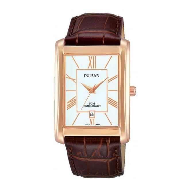 Pulsar Men's Rose Gold Plated Watch PG8248X1