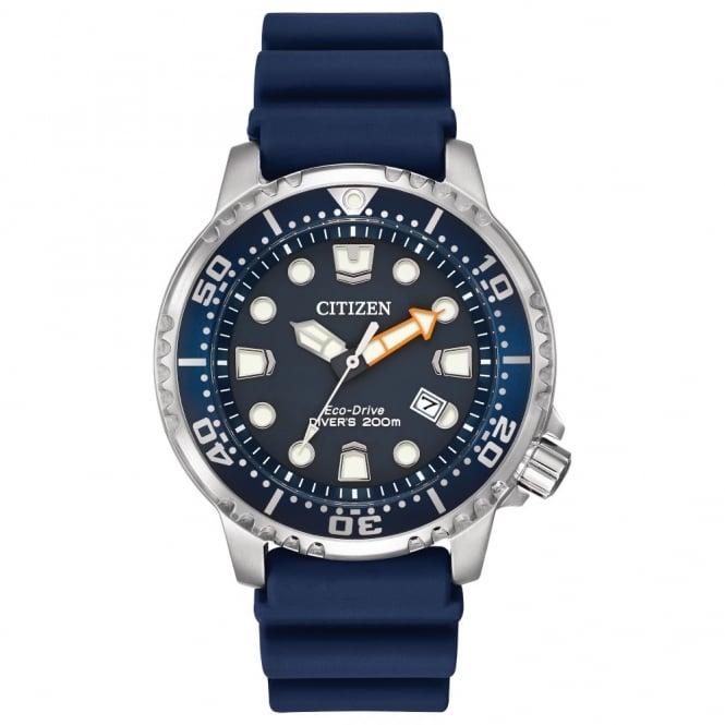 Citizen Men s Rubber Strap Promaster Divers Eco-Drive Watch BN0151-09L aa213730dd8