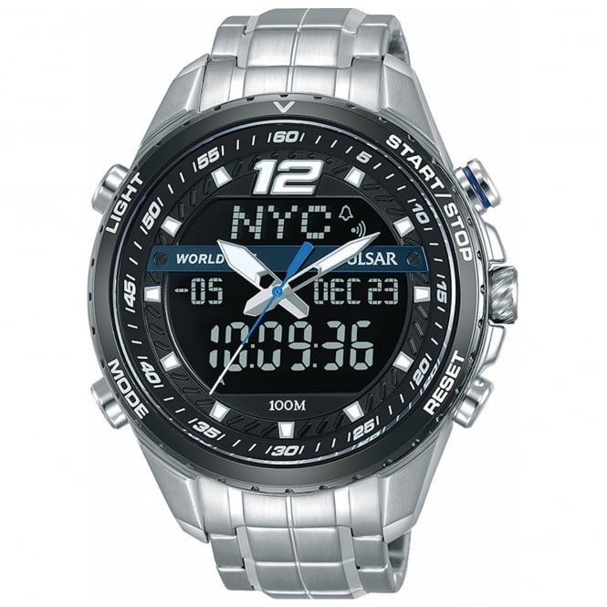 Men's S/Steel Analogue Digital Watch PZ4027X1