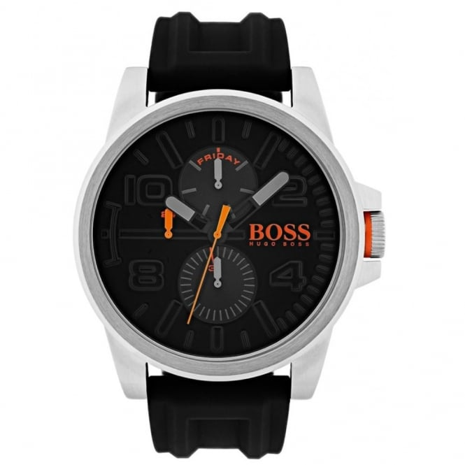 Hugo Boss Orange Men's S/Steel Black Rubber Detroit Watch 1550006