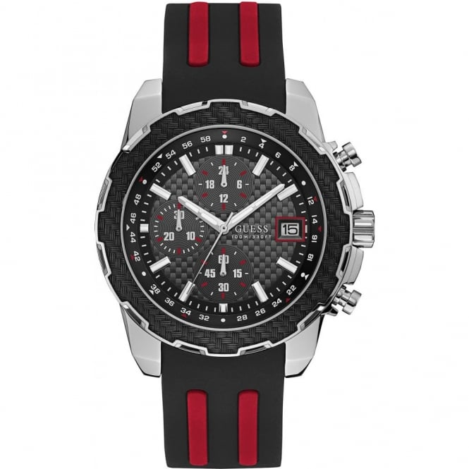 Men's S/Steel Black Rubber Octane Watch W1047G1