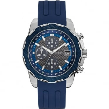 Men's S/Steel Blue Rubber Octane Watch W1047G2