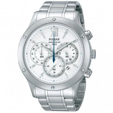 Pulsar Men's S/Steel Chronograph Watch PU2057X1