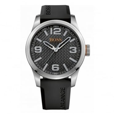 Men's S/Steel Rubber Strap Paris Watch 1513350