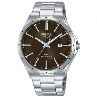 Men's S/Steel Solar Watch PX3137X1
