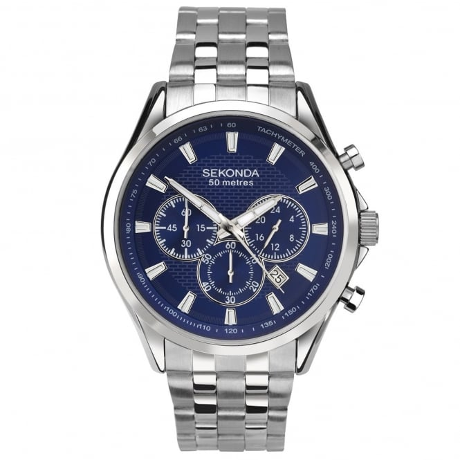 Men's Stainless Steel Chronograph Watch 1393