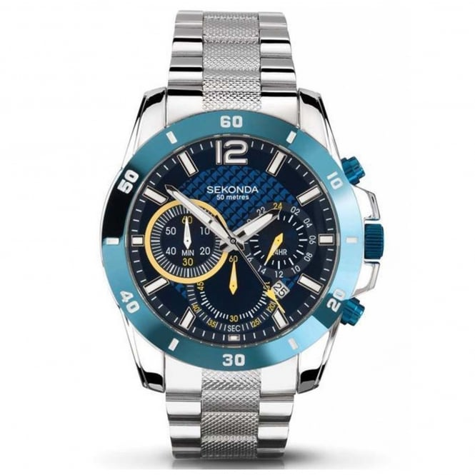 Men's Stainless Steel Chronograph Watch 3484