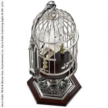 Miniature Hedwig In Cage NN7078