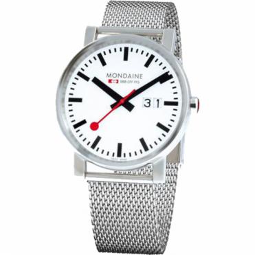 Mondaine Gents' Evo Big Date S/Steel Watch A627.30303.11SBM