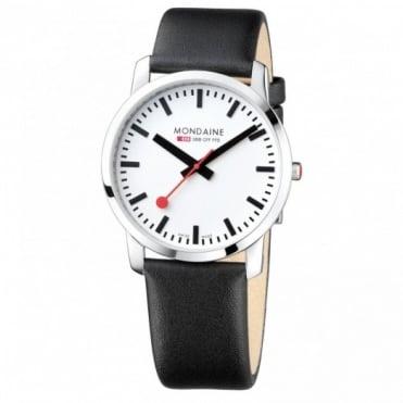 Mondaine Gents Simply Elegant Black Leather Watch A638.30350.11SBB