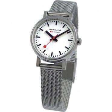 Mondaine Ladies' Evo S/Steel Petite Watch A658.30301.11SBV