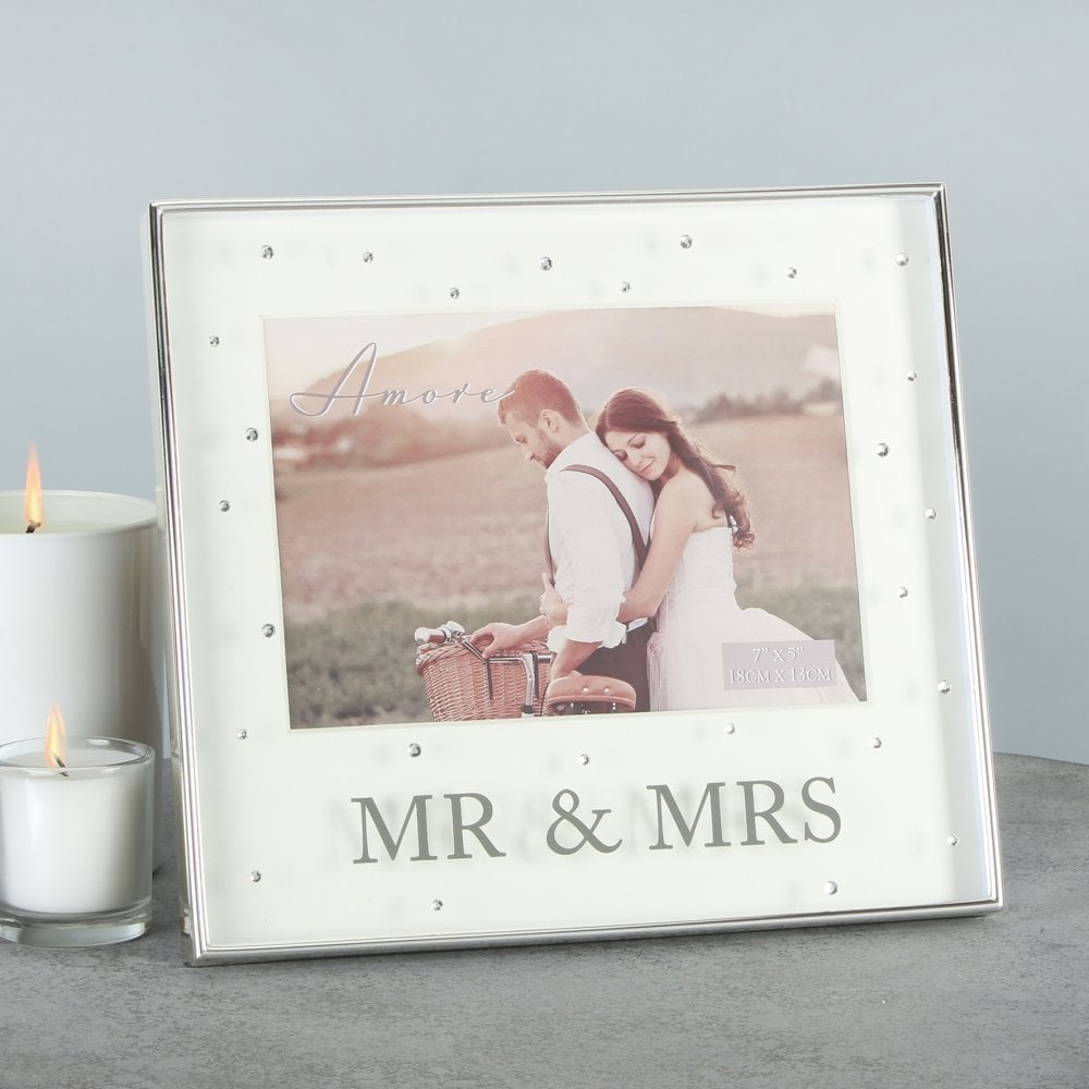 Mr Mrs Wedding Photo Frame 5x7 Wedding Gifts From Hillier