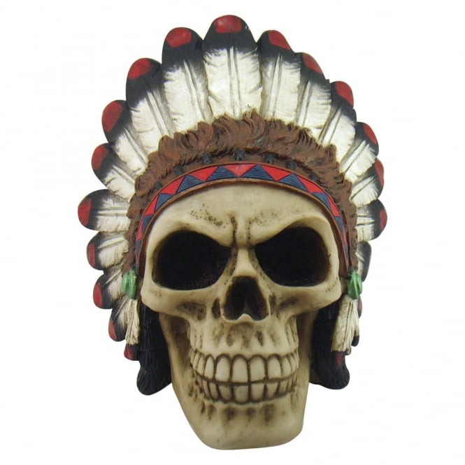 Native Indian Tribe Chief Skull U1341D5