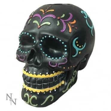Carnival Of The Dead Candlestick Holder Skull D2215F6
