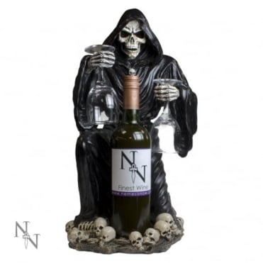 Grim Reaper Bottle & Glass Holder NEM6307