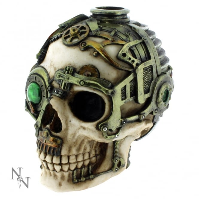 Nemesis Now Steampunk Skull Candle Holder B1479D5