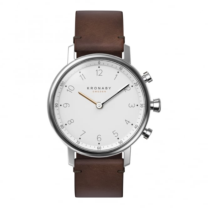Nord S/Steel Case Brown Leather Strap Watch A1000-0711