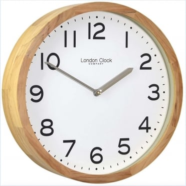 Oak Wood Wall Clock 01234