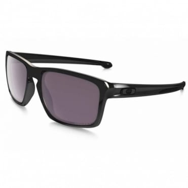Polished Black Silver F Sunglasses OO9262-07