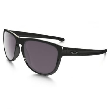 Polished Black Silver R Sunglasses OO9342-07