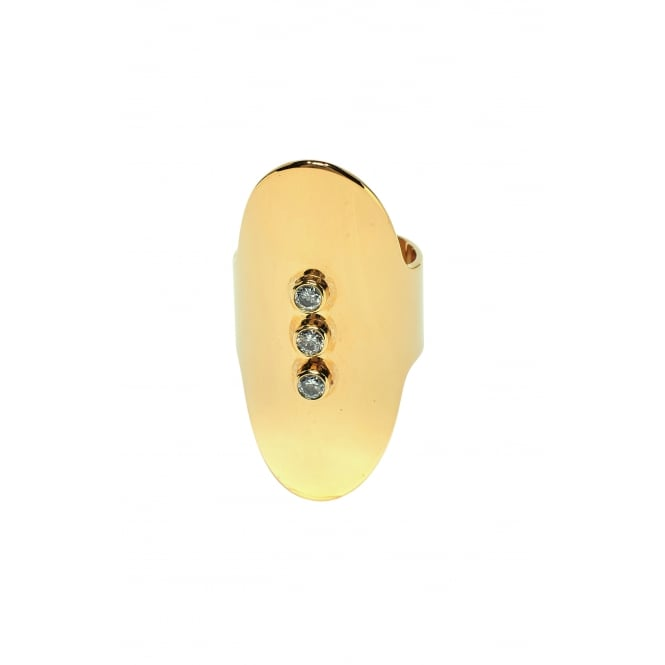 Oval, 3 Stones (White) Gold Ring BA-52.G