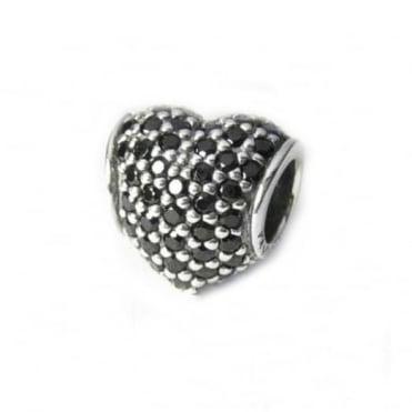 Pandora Black Pave Heart Charm 791052NCK