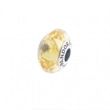 Pandora Golden Faceted Murano Glass Charm 791629
