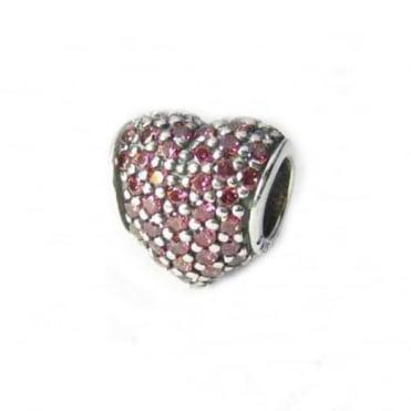 Pandora Red Pave Heart Charm 791052CZR