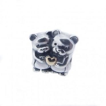 Pandora Silver & 14ct Gold Bear Hug Charm 791395